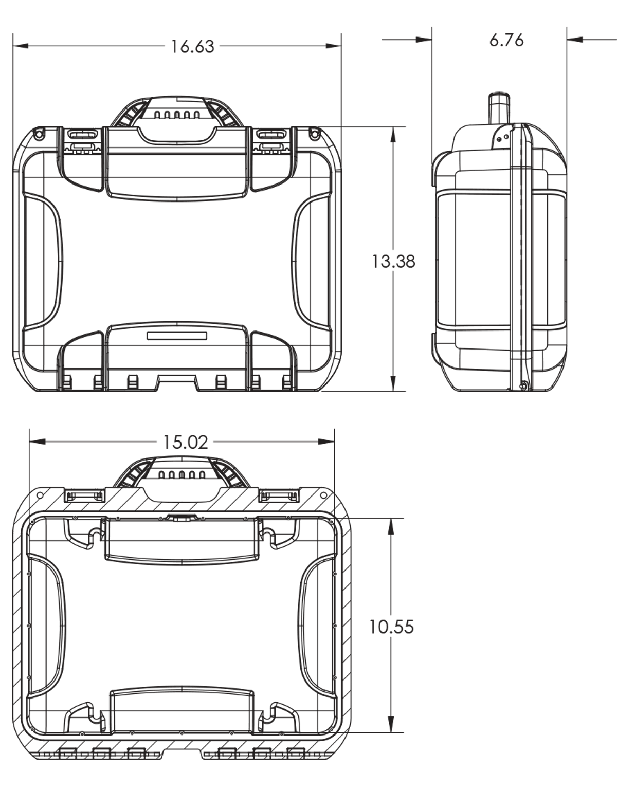 Dimensions of the DJI Mavic Case Hard Case