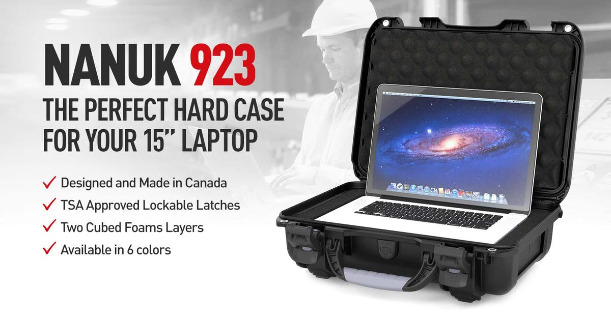 Nanuk 923 Case in Black for the 15 inches MacBook Pro Laptop