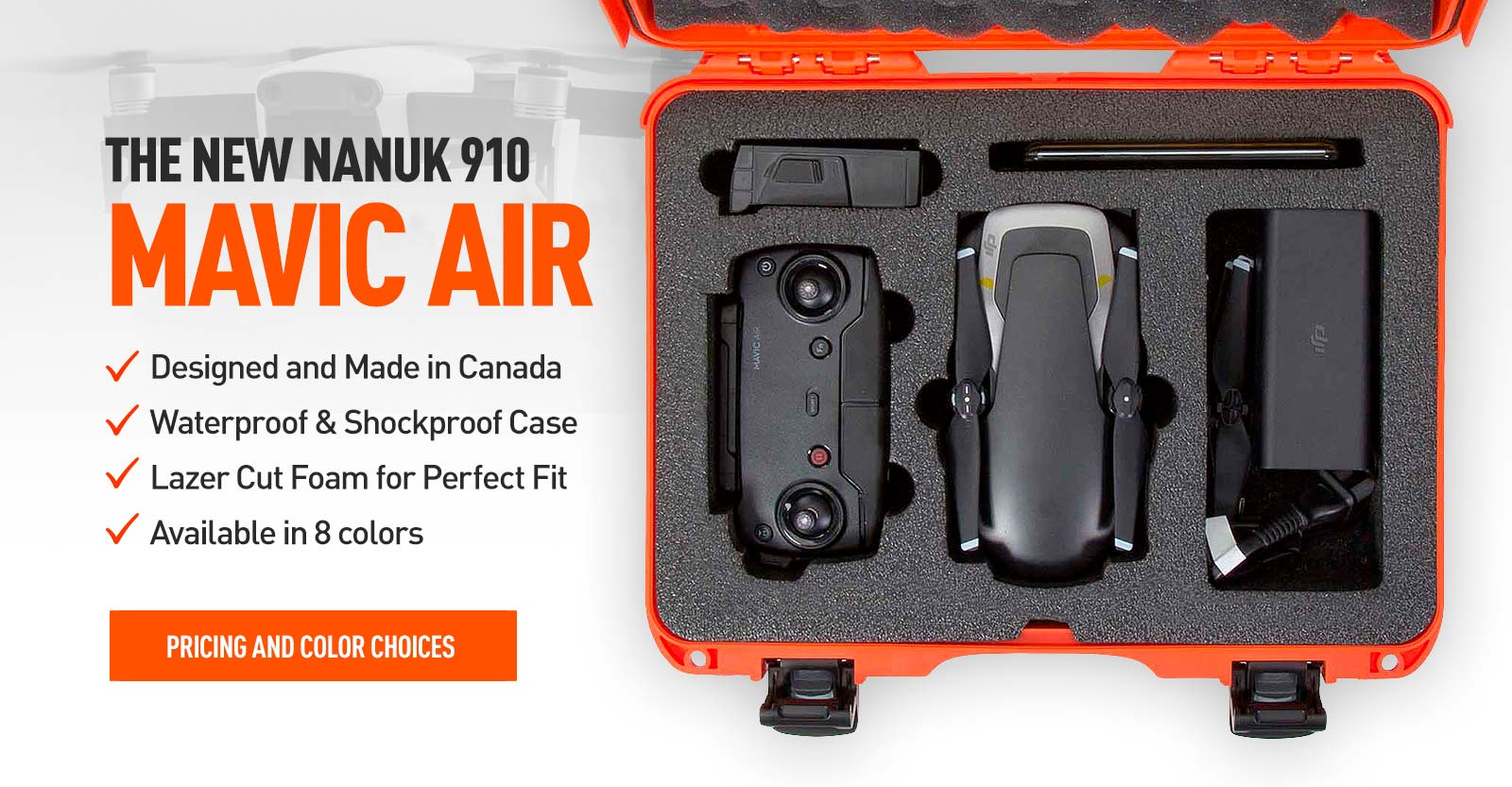 Nanuk 910 for the Maiv Air in Orange