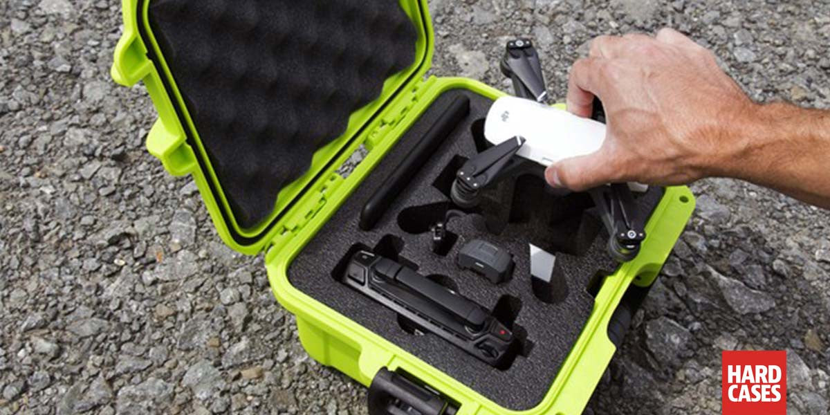 Man putting back the DJI Spark inside a Nanuk 905 Hard Case