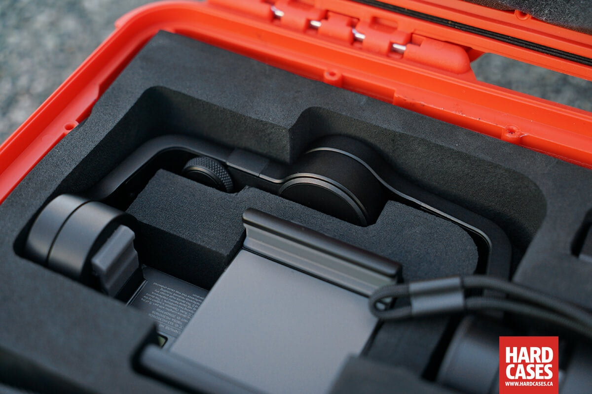 Details of the Osmo Mobile in the Nanuk 910 case