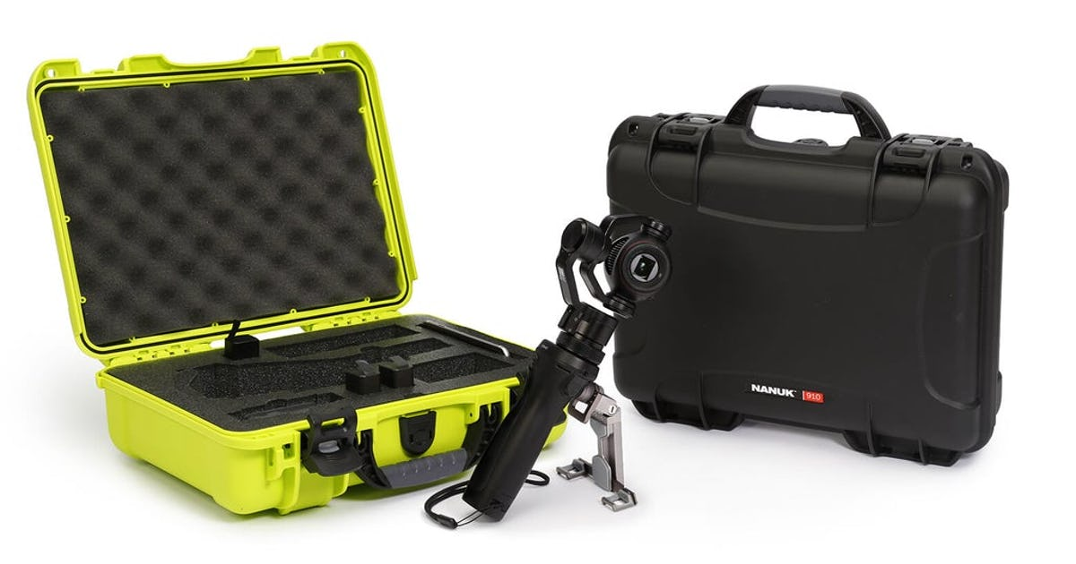 Nanuk 910 Hard Case for DJI Osmo in Lime and Black