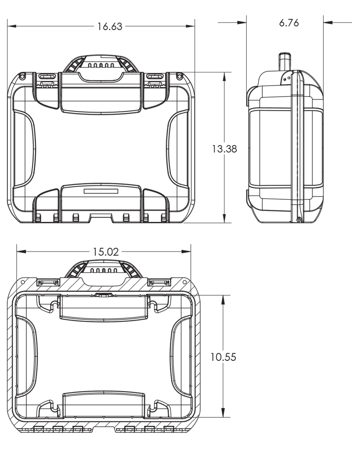 Dimensions of the Nanuk 920 Hard Case