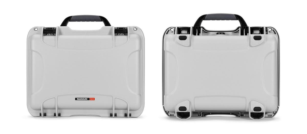Nanuk 923 Hard Case in Silver - Bottom and Top Views