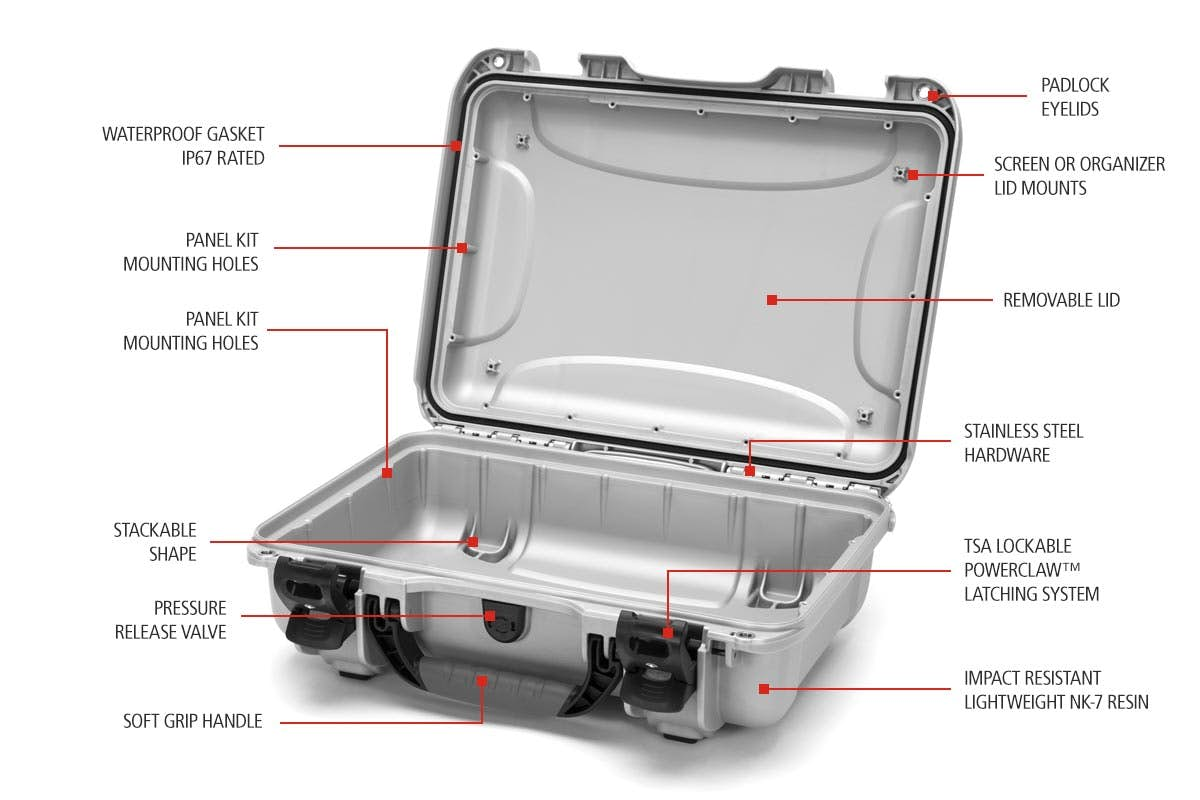 Nanuk 923 Case Features for a 15 inches Laptop