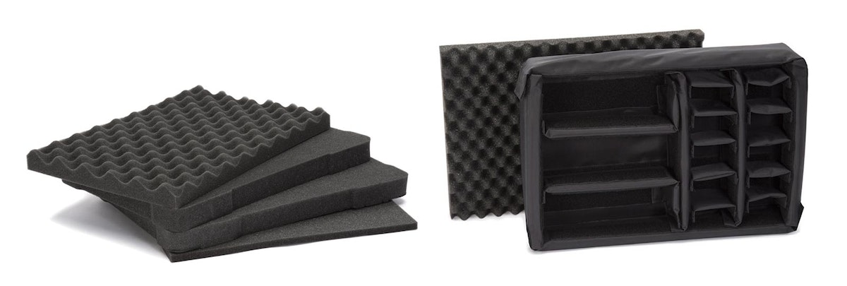 Nanuk 923 Cubed Foams and Nanuk 923 Padded Divider Options