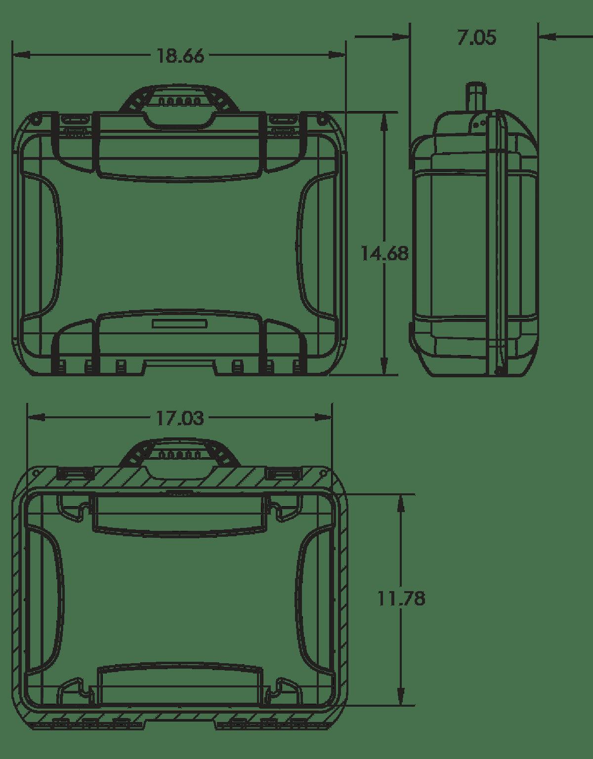 Dimensions of the Nanuk 925 Hard Case