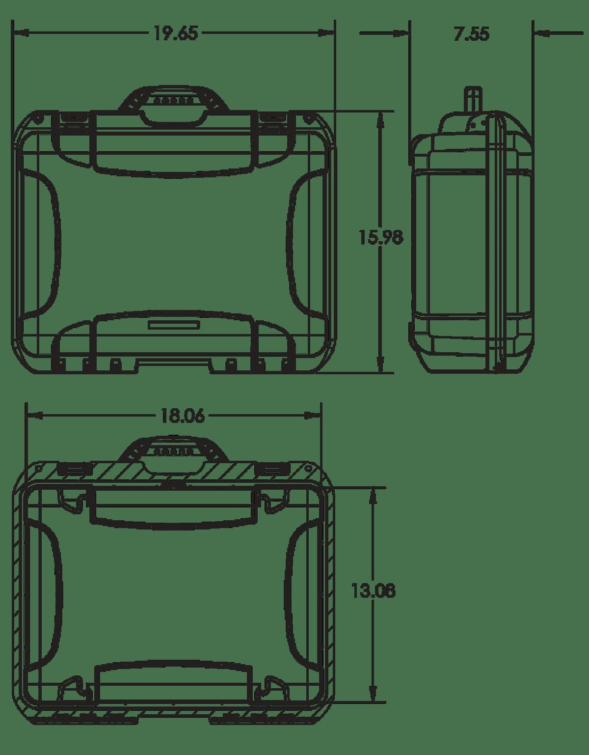Dimensions of the Nanuk 930 Hard Case