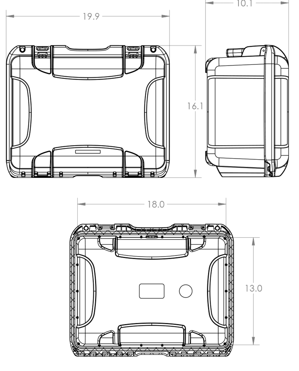 Dimensions of the Nanuk 933 Hard Case