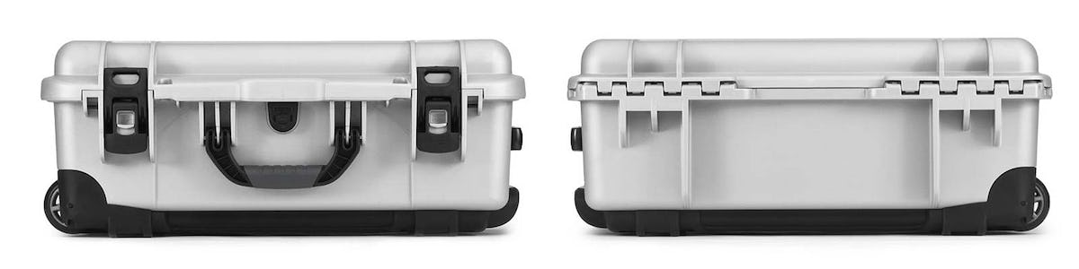Nanuk 935 in Silver Front and Back Views