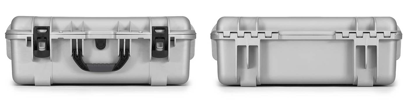 Nanuk 945 in Silver Front and Back Views