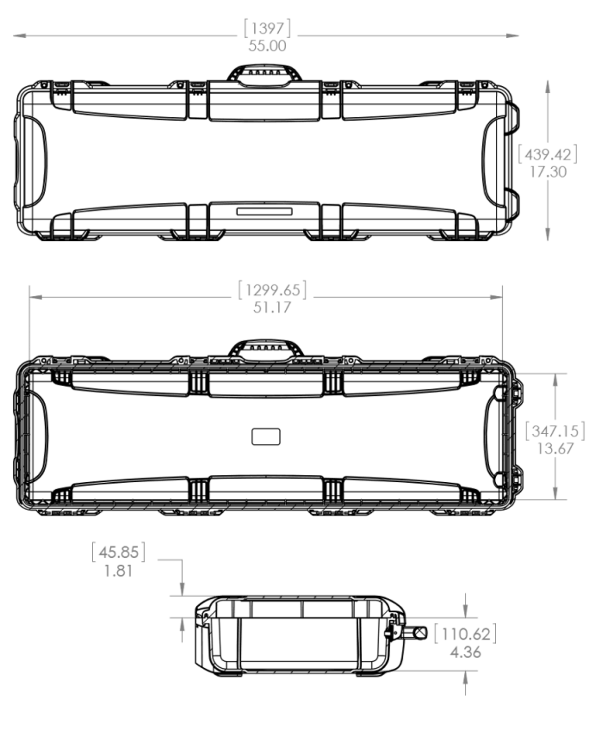 Dimensions of the Nanuk 995 Hard Case